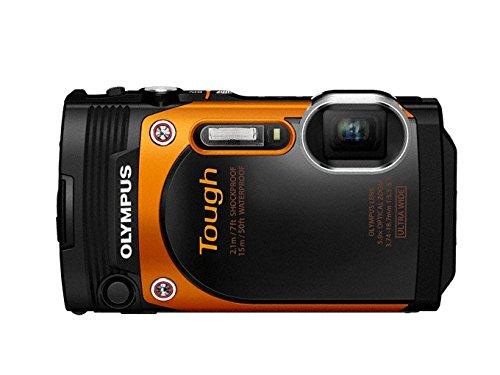 Olympus TG-860 Tough Waterproof Digital Camera with 3-Inch LCD (Orange)