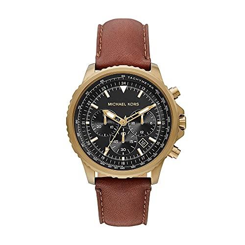 Reloj Cortland para hombre, de Michael Kors, de acero inoxidable en tonos dorados y con cronógrafo, MK8906