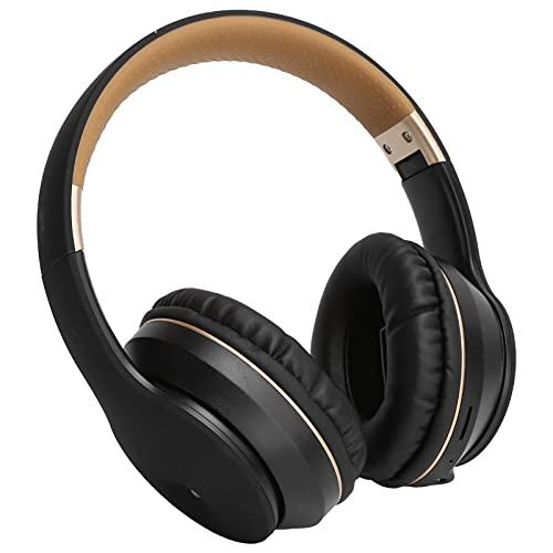 Auriculares Bluetooth, Auriculares supraaurales inalámbricos plegables con graves profundos, Micrófono dual integrado, Auriculares estéreo con cancelación de ruido, para teléfono celular, TV, PC