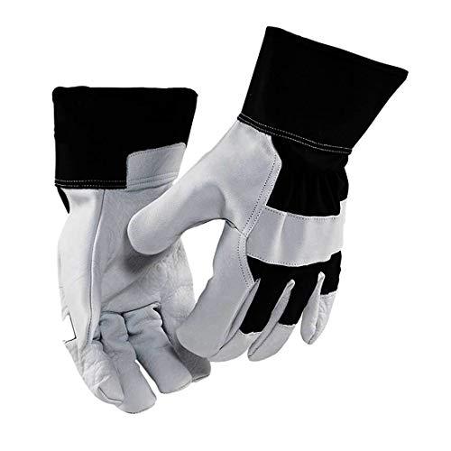 Blakläder Handwerker-Handschuhe robust, 12er-Pack, 1 Stück, Größe 8, schwarz / gelb, 2278390099338