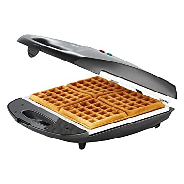 Oster DuraCeramic Infusion Series Waffle Maker, White/Charcoal (CKSTWF40WC-IECO)