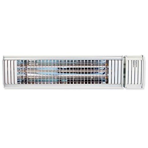 VASNER Infrarot-Heizstrahler Appino 20 weiß, App Steuerung, Fernbedienung, 2000 Watt, Terrassenstrahler elektrisch, Infrarotstrahler Terrasse außen, Bluetooth - 6