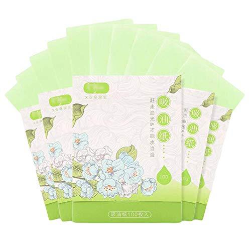 Papier buvard facial facial pour hommes et femmes, 500 feuilles vertes
