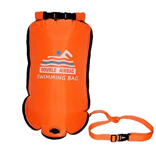 NIDONE Flotar Portátil De Doble Bolsa En Seco Natación Inflable De Seguridad Bolsa De Aire para La Natación De Deportes Acuáticos De Naranja
