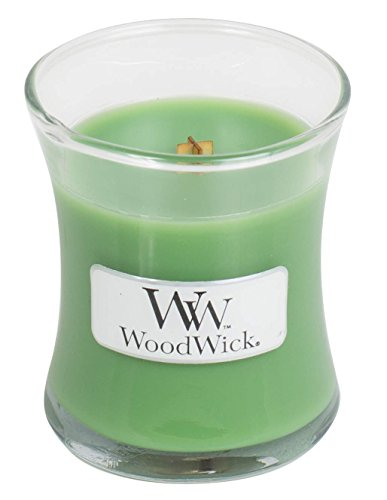 WoodWick LINE Basic kaars mini palmblad, was, groen, 7 x 7 x 8 cm