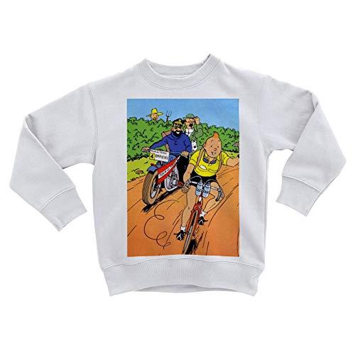 Fabulous Sweatshirt Enfant Tintin Tour de France Maillot Jaune BD Vintage