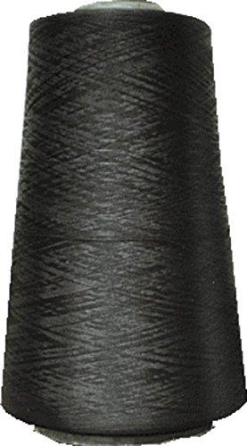 大容量 ロックミシン用 ウーリー糸 275g たっぷり10000m以上 黒(巻きロック用)