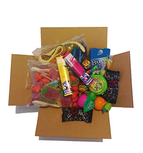 BoomBox® Süßigkeiten Box Partymix   Nostalgie & neues   +60 Süßigkeiten   1kg  