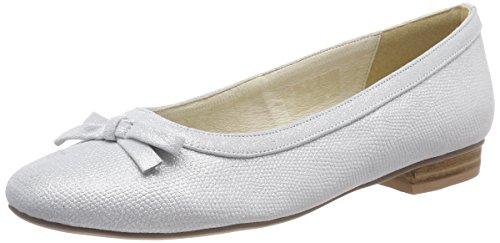 Andrea Conti Damen 1003462 Geschlossene Ballerinas, Silber (Silber 096), 39 EU