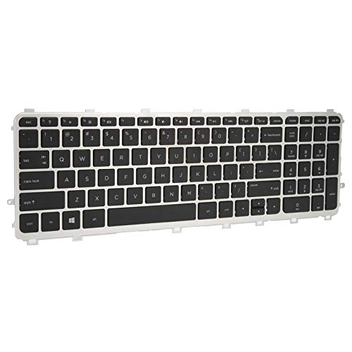 Keyboard Replacement Keyboard Sensitive Keyboard with Silver Frame Sturdy Laptop Accessories Light Portable for Computer for Laptop