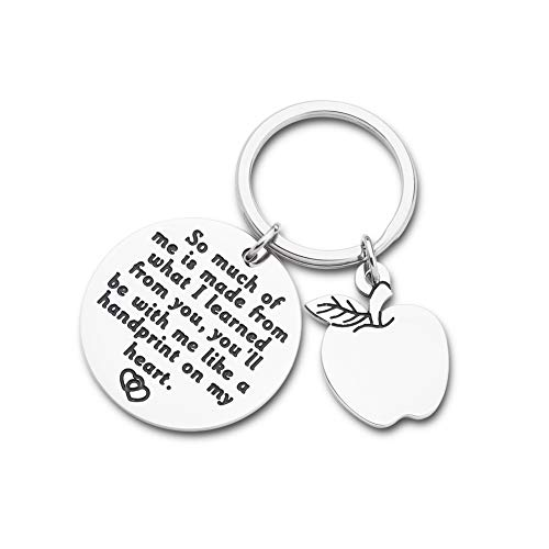Teacher Appreciation Keychain Christmas Stocking Stuffer Gifts for Teacher Mentor from Students Teachers Day Birthday Graduation Thank You Gifts for Mom Dad Women Men Retirement Present