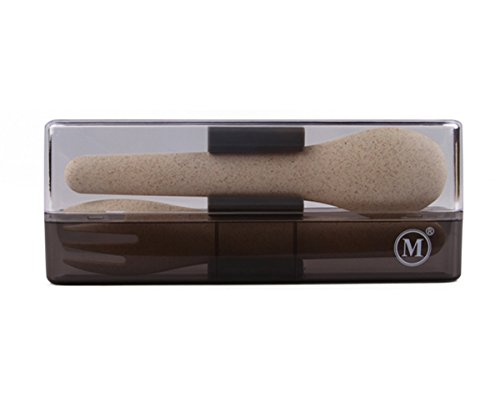 Minimal Natural Fiber Bento Boxes, Natural Color (2pc - Travel Cutlery Set)