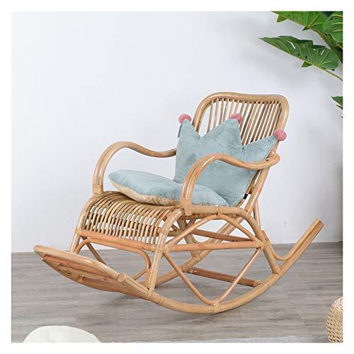 HQQ Silla de Mimbre Silla Mecedora reclinable casa balcón al Aire Libre jardín Anciano Silla fácil 125x55x92cm (Color : C)