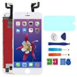 AUODA Écran LCD Display pour iPhone 6S Blanc Complet Tactile Remplacement &Protection d'écran Kit de Réparation