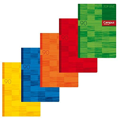 Campus University Top Line - Libreta grapada, 48 hojas, 90 g, milimetrado mod 46, A4