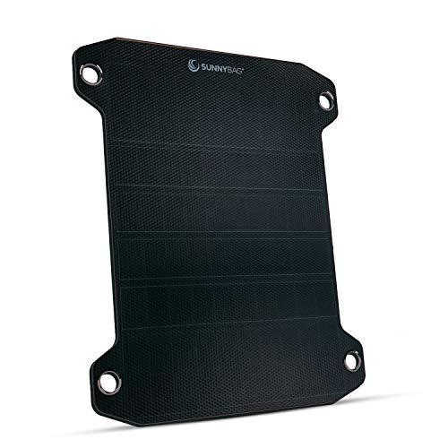 Sunnybag LEAF PRO | Panel solar flexible con 7,5vatios | Carga de teléfono inteligente con energía solar | Puerto USB | Cargador solar para senderismo