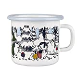 Muurla Tasse Moomin Winter Forest Emaille 25 cl Weiß