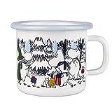 Muurla Becher Mumin Winter Forest, Emaille, 25 cl, Weiß
