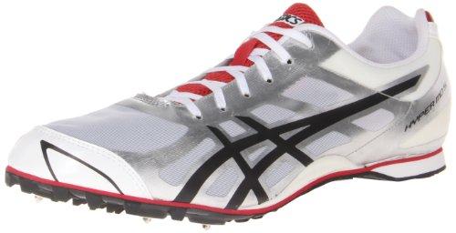 ASICS - Männer Leichtathletik Hyper Md 5 Schuhe In Weiß/Silber/Schwarz, EUR: 48, White/Silver/Black