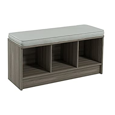 ClosetMaid 3258 Cubeicals 3-Cube Storage Bench, Natural Gray