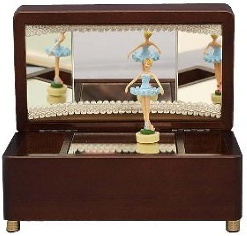 las mejores marcas venden barato Lake azul doll doll doll ballerina music box marrón swan by Uddoni (WOODNY)  alta calidad