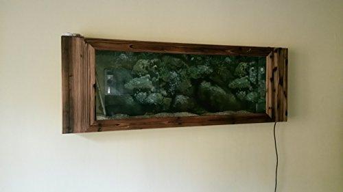Wandaquarium- Dark Wood 160, Panorama Aquarium – Wall Aquarium - 3