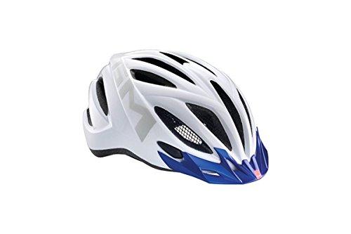 MET 20 miles bleu/blanc (Tour tete: 52-58 cm) Casque vélo de ville