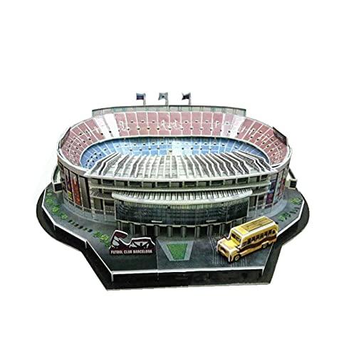 SY-Home Modelo de construcción de Estadio, Rompecabezas Tridimensional 3D NOU Camp Stadium DIY Juguetes educativos ensamblados a Mano para Adultos y niños