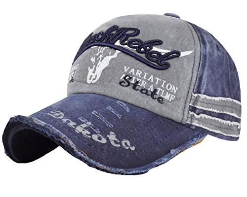 heekpek Unisex Adulto Gorras de Hombre Beisbol Gorra de Béisbol Informal Bordado Casuales Sombreros (Azul)