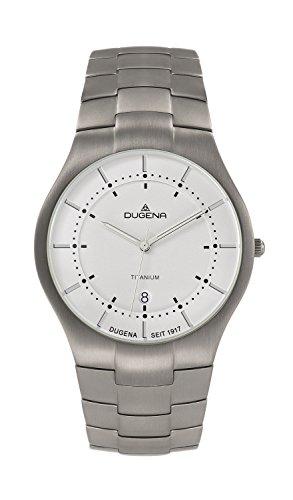 Dugena Herren-Armbanduhr Titanuhren Analog Quarz Titan 4460480