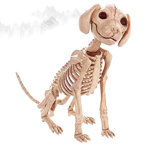 LTY YHP Decoración de Halloween Suministros cráneo Perro Simulación Esqueleto de Animal Sentado Bone Barra de Cine y Televisión de la casa encantada de Apoyos Collection