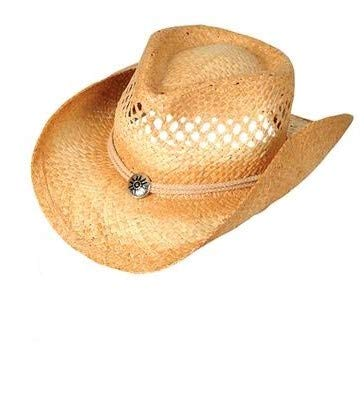 Rhode Island Novelty Vented Tea Stained Straw Cowboy Hat One Per Order