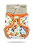Petit Lulu TI2 Pannolino Di Stoffa Taglia Unica (5-16 kg) | SIO Complete Nuova Versione Insert breve | Snaps | Pannolini Di Stoffa | Riutilizzabile e Lavabile | Prodotto in Europa (Forest Fairytale)