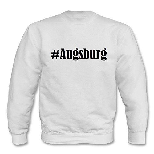 Reifen-Markt Sweatshirt Damen #Augsburg Größe S Farbe Weiss Druck Schwarz