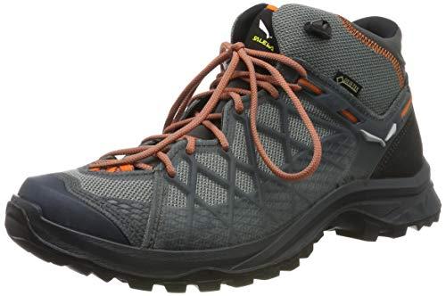 Salewa WS Speed Beat Gore-TEX, Chaussures de trail running Femme, Vert (Shaded Spruce/Fluo Coral), 42 EU