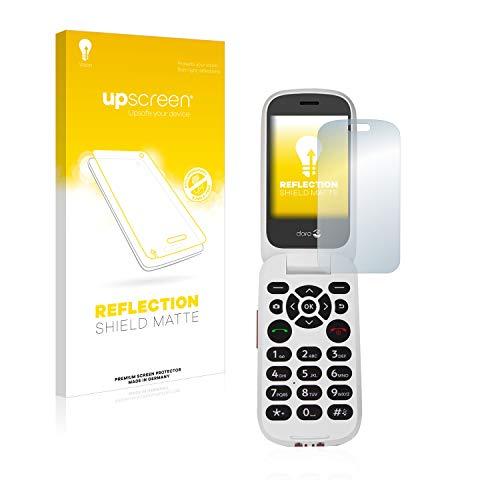 upscreen Entspiegelungs-Schutzfolie kompatibel mit Doro 7060 (Inneres Bildschirm) – Anti-Reflex Bildschirmschutz-Folie Matt
