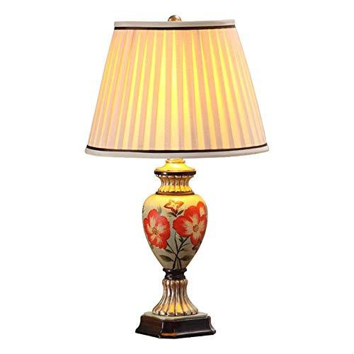 ADSE Accesorios para lámpara de Mesa, atenuador, Sala de exposición de Hotel, Dormitorio, lámpara de Resina de Hierro Forjado Cromado, Cuerpo, lámpara de cabecera de Dormitorio Retro