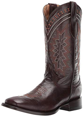 Ferrini Men's Apache Western Boot, Chocolate, 9 D US