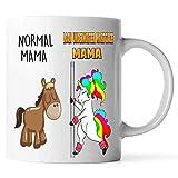 Taza de café de mamá unicornio normal de mamá y asegurador hipotecario. Taza para abuelas, mamás, Mimi, Gigi, Nana - cumpleaños, Navidad, día de la madre, taza de jubilación - Elemiah Hester (blanco,