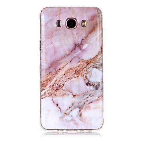 Carols Cover Samsung Galaxy J7 2016 Marmo, Silicone Morbido Cover Antiurto TPU Soft Touch con Disegni Effetto Marmo Custodia Protettiva per Samsung Galaxy J7 2016 /(SM-J710) (5,5 Zoll) - Marmo -A22