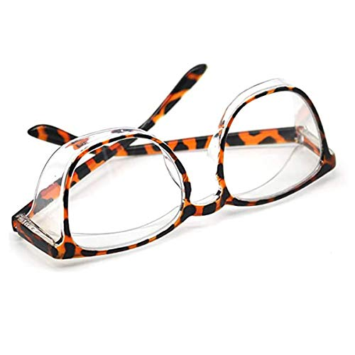 Safety Glasses Anti Fog for Women and Men,UV Protection Anti Scratch Protective Eyewear Safety Goggles over Glasses (Square Leopard Frame)