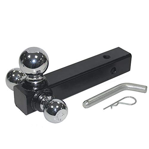 OPENROAD 3 BallsTrailer Hitch Mount 2 Inch Receiver Hitch Towing Ball Hitch Chrome Ball Hollow Shank5/8 Safety LOCK