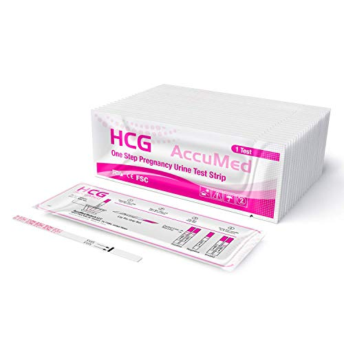 AccuMed Pregnancy Test Strips, 25-Count Individually Wrapped Pregnancy...