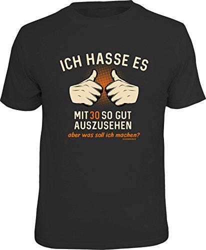 RAHMENLOS Original Geschenk T-Shirt zum 30. Geburtstag: Ich Hasse es mit 30 so gut auszusehen, Aber was soll ich Machen? M