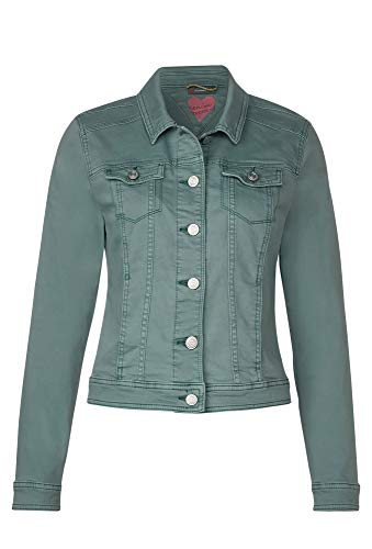 Street One Damen Roxana Jeansjacke, Jade medium Washed, 44