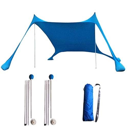 Deer Aislamiento Sombrillas, portátiles Pantallas de protección Solar 210x210 sombrilla for Patio, Parasol Anti-Ultravioleta for Gazebo sin Arena de Playa Lluvia Shed Usable (Farbe : Blau)