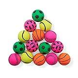 THE TWIDDLERS 15 Bolas de Goma de Juguete (7cm) - Pelota de Juego de Interior al Aire Libre | Pelotas de Deporte Suaves para Niños