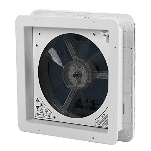 Chanme Lüftungsventilator, RV Lüftungsventilator Regensensor Funktion Lüftung Elektrisch mit Fernbedienung für Bus(12V Electric with Remote Control 010028)
