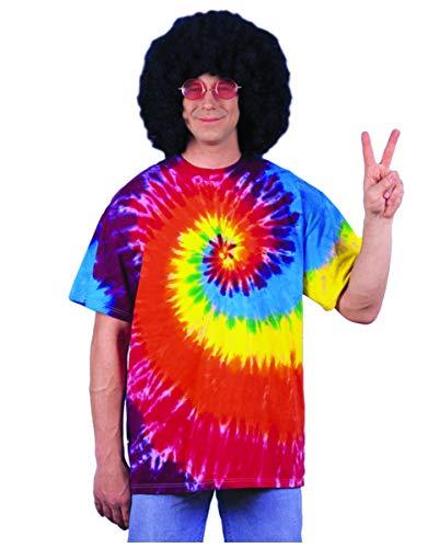 Horror-Shop Chemise hippie arc-en-ciel