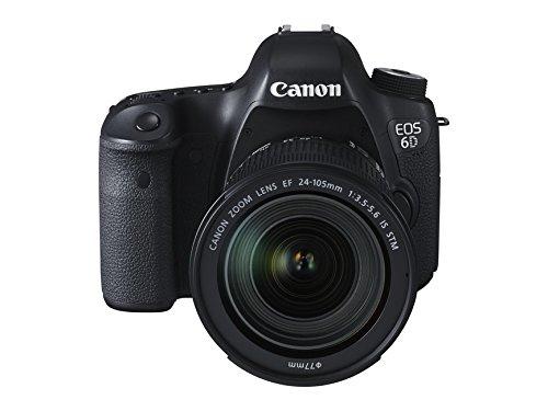 "Canon EOS 6D - Cámara réflex Digital de 20.2 MP (Pantalla 3.2"", estabilizador óptico, vídeo Full HD, GPS), Color Negro - Kit con Objetivo EF 24-105 3.5-5.6 IS STM"